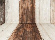Alte Naturholzwandbeschaffenheit und -muster Lizenzfreie Stockfotos