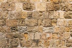 Alte Natursteinwand als Beschaffenheit oder Hintergrund Stockfotografie