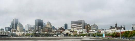 Alte nebelige Szene Montreals Stockfotos