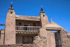 Alte New Mexiko-Kirche Stockfotos