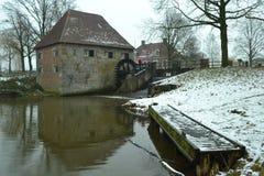 Alte niederländische Wassermühle Stockfoto