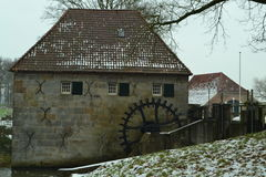 Alte niederländische Wassermühle Stockbilder