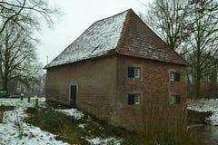 Alte niederländische Wassermühle (backsite) Lizenzfreie Stockfotografie