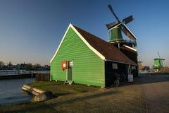 Alte niederländische Windmühle Lizenzfreies Stockbild