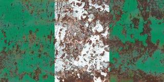 Alte Nigeria-Schmutzhintergrundflagge lizenzfreie stockfotografie