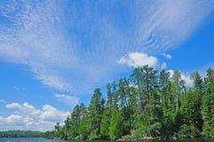 Alte nubi nella regione selvaggia Fotografia Stock