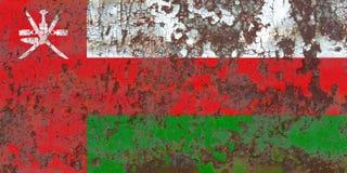 Alte Oman-Schmutzhintergrundflagge Stockfotos