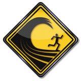 Alte onde del segnale di pericolo illustrazione vettoriale