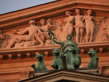 Alte oper. The old opera, Frankfurt royalty free stock photo