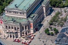 Alte Oper (Alte-Operation) Frankfurt- am Mainc$deutschland-luftansicht Lizenzfreie Stockfotografie