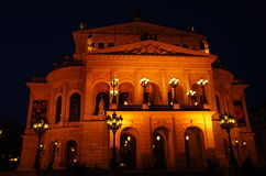 Alte Oper, Frankfurt magistrala - Am - Zdjęcia Royalty Free