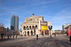 Alte Oper in Frankfurt-am-Main Stock Afbeelding