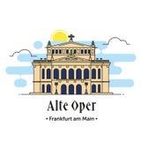Alte Oper Frankfurt am Main illustration Royalty Free Stock Photo