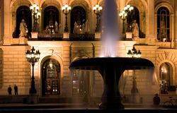 Alte Oper at Night Stock Photography