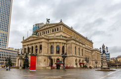 Alte Oper (Old Opera) in Frankfurt Stock Images