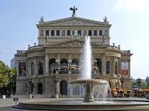 Alte Oper, opera w Frankfurt magistrala - Am - obrazy royalty free