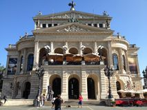 Alte Oper w Frankfurt Obrazy Stock