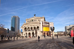 Alte Oper w Frankfurt magistrala - Am - Obraz Stock
