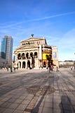 Alte Oper w Frankfurt magistrala - Am - Fotografia Stock