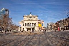 Alte Oper w Frankfurt magistrala - Am - Zdjęcia Stock