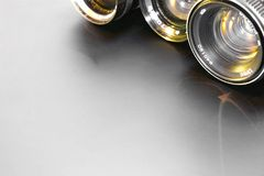 Alte optische Gläser Stockfoto