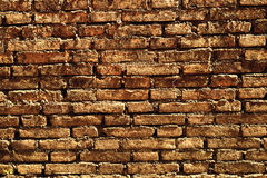 Alte orange Backsteinmauer Lizenzfreie Stockbilder