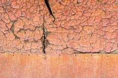 Alte orange Holzoberfläche Stockbilder