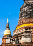 Alte Pagode bei Wat Yai Chai Mongkhon, Ayutthaya, Thailand lizenzfreie stockfotos