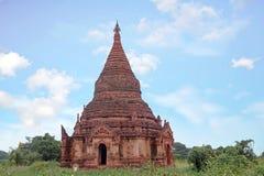 Alte Pagode in der Landschaft von Bagan auf Myanmar Lizenzfreies Stockfoto