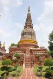 Alte Pagode in historischem Park Ayutthaya Lizenzfreies Stockfoto