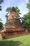 Alte Pagode in historischem Park Ayutthaya Stockfotografie