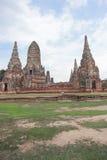 Alte Pagode in historischem Park Ayutthaya Lizenzfreie Stockfotografie