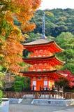 Alte Pagode in Kiyomizu-Schrein stockfotografie