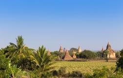 Alte Pagode mit blauem Himmel in Bagan, Myanmar Lizenzfreies Stockbild