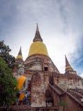 Alte Pagode von Buddhismus in Ayutthaya, Thailand Lizenzfreie Stockfotos