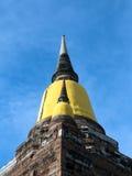Alte Pagode von Buddhismus in Ayutthaya, Thailand Lizenzfreie Stockbilder