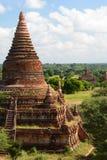 Alte Pagoden auf Bagan-Ebenen Bagan myanmar Stockfoto