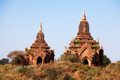 Alte Pagoden in Bagan Stockfoto
