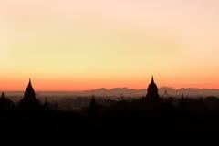 Alte Pagoden Bagan auf Myanmar Lizenzfreies Stockfoto