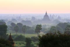 Alte Pagoden Bagan auf Myanmar Stockfotografie