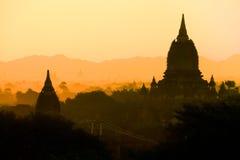 Alte Pagoden Bagan auf Myanmar Stockbild
