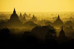 Alte Pagoden Bagan auf Myanmar Stockbilder