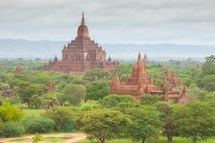 Alte Pagoden in Bagan Mandalay, Myanmar Lizenzfreie Stockfotos
