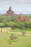Alte Pagoden in Bagan Mandalay, Myanmar Stockfotografie