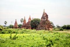 Alte Pagoden in Bagan Myanmar Lizenzfreies Stockbild