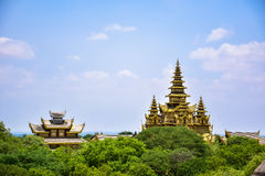 Alte Pagoden in Bagan, Myanmar Stockfotografie