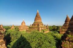 Alte Pagoden und Tempel Bagan Stockbild