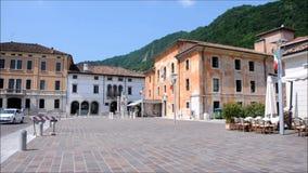 - Alte Paläste in der Stadt von Vittori Venetien stock footage