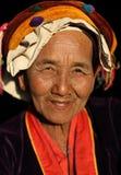 Alte Palaungs-Frau, Myanmar Stockfotos