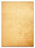 Alte Papieranmerkungen. Serie Stockbild